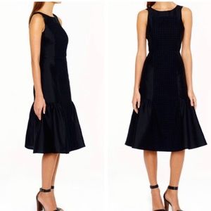 J. Crew Collection Panel Eyelet Black Dress Sz 0